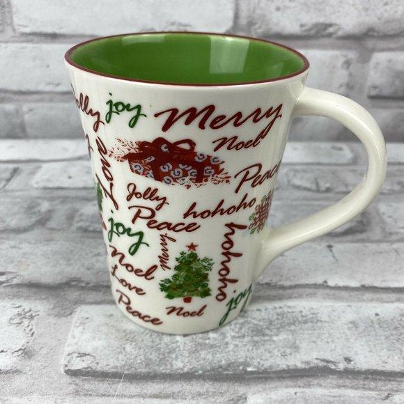 Starbucks Christmas 2007 Holiday Words Coffee Cup